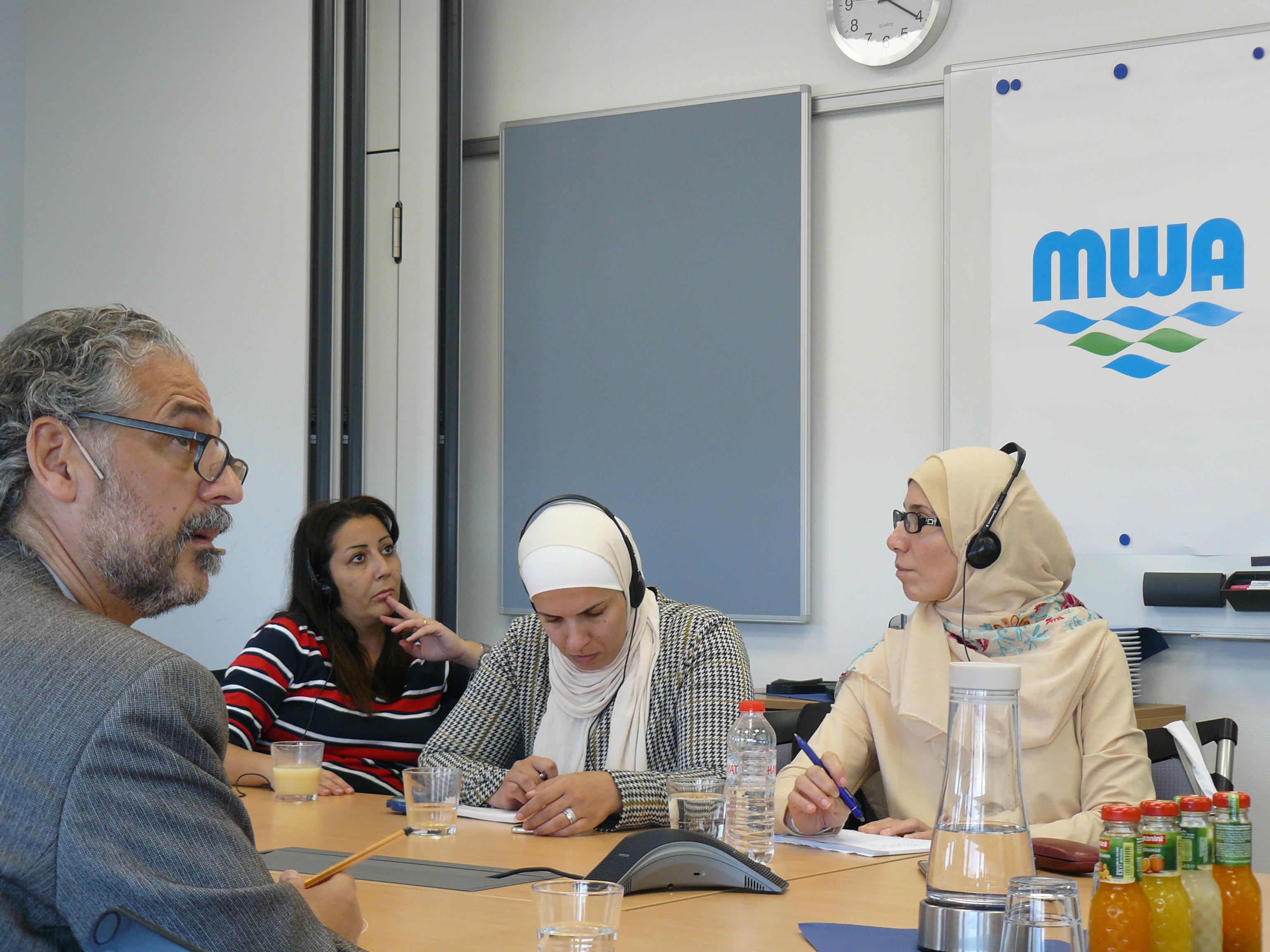 Jordanische Delegation bei der MWA