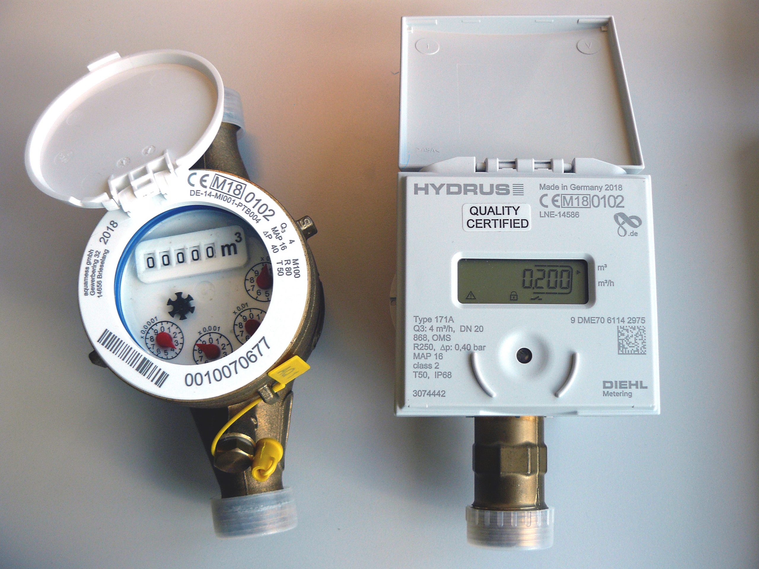 Alte Wasserzähler werden ab 2020 durch neue Funkwasserzähler ersetzt